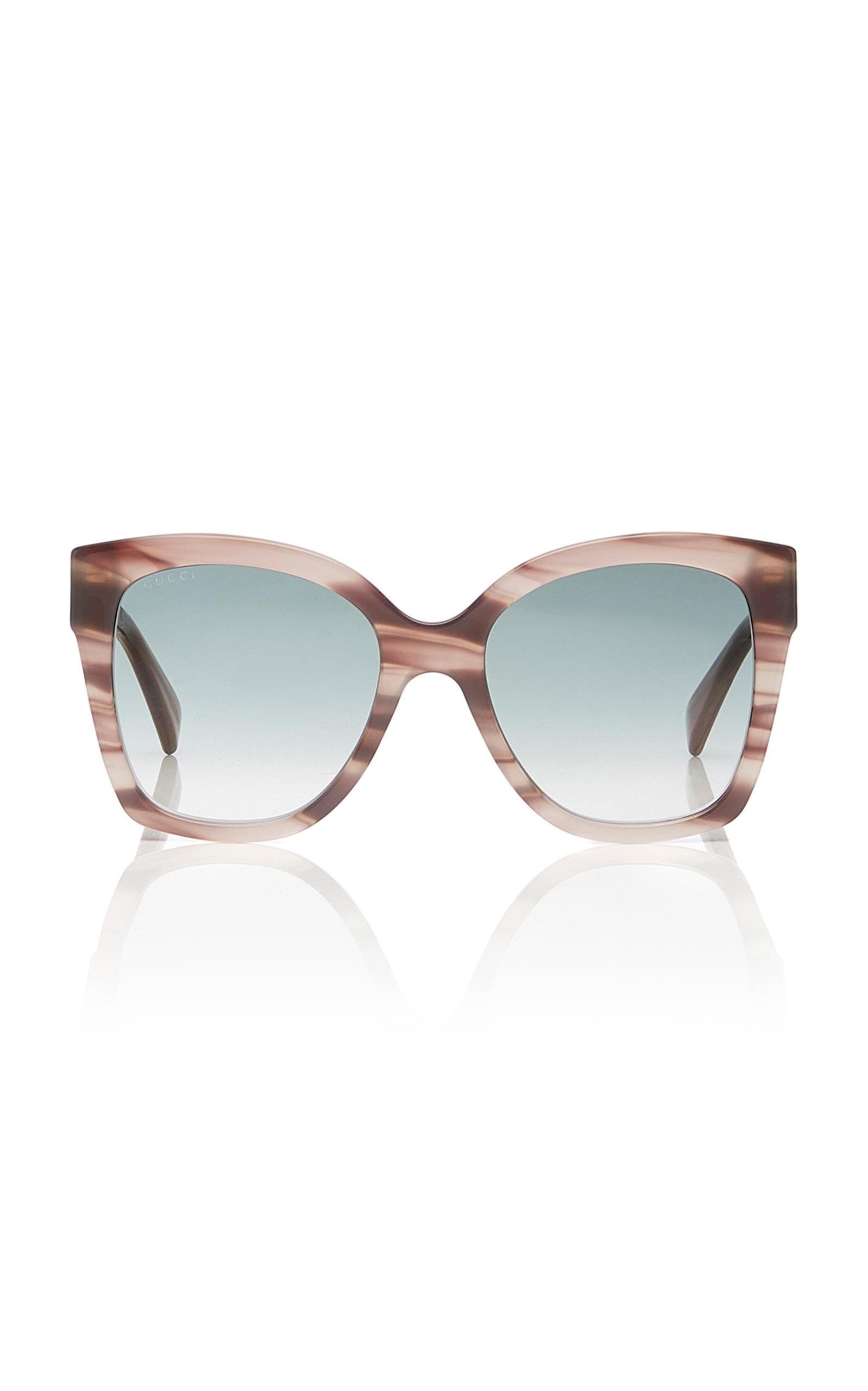 812d40731bc Gucci Sunglasses Marbled Acetate Square-Frame Sunglasses. CLOSE. Loading