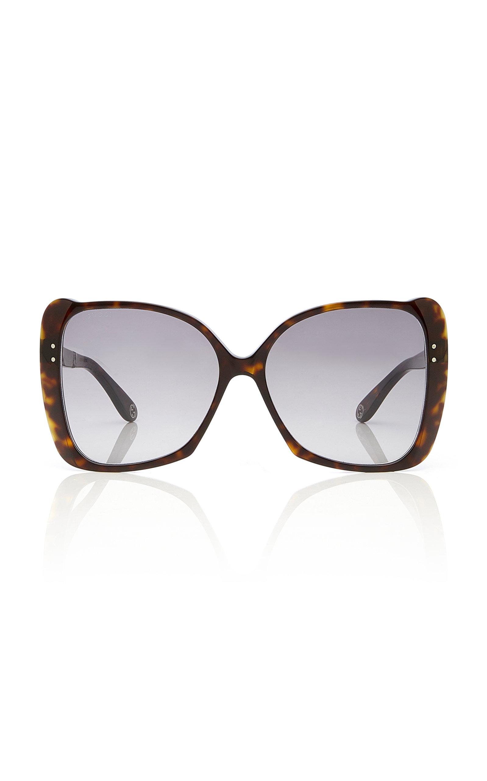 GUCCI | Gucci Sunglasses Butterfly-Frame Tortoiseshell Acetate Sunglasses | Goxip