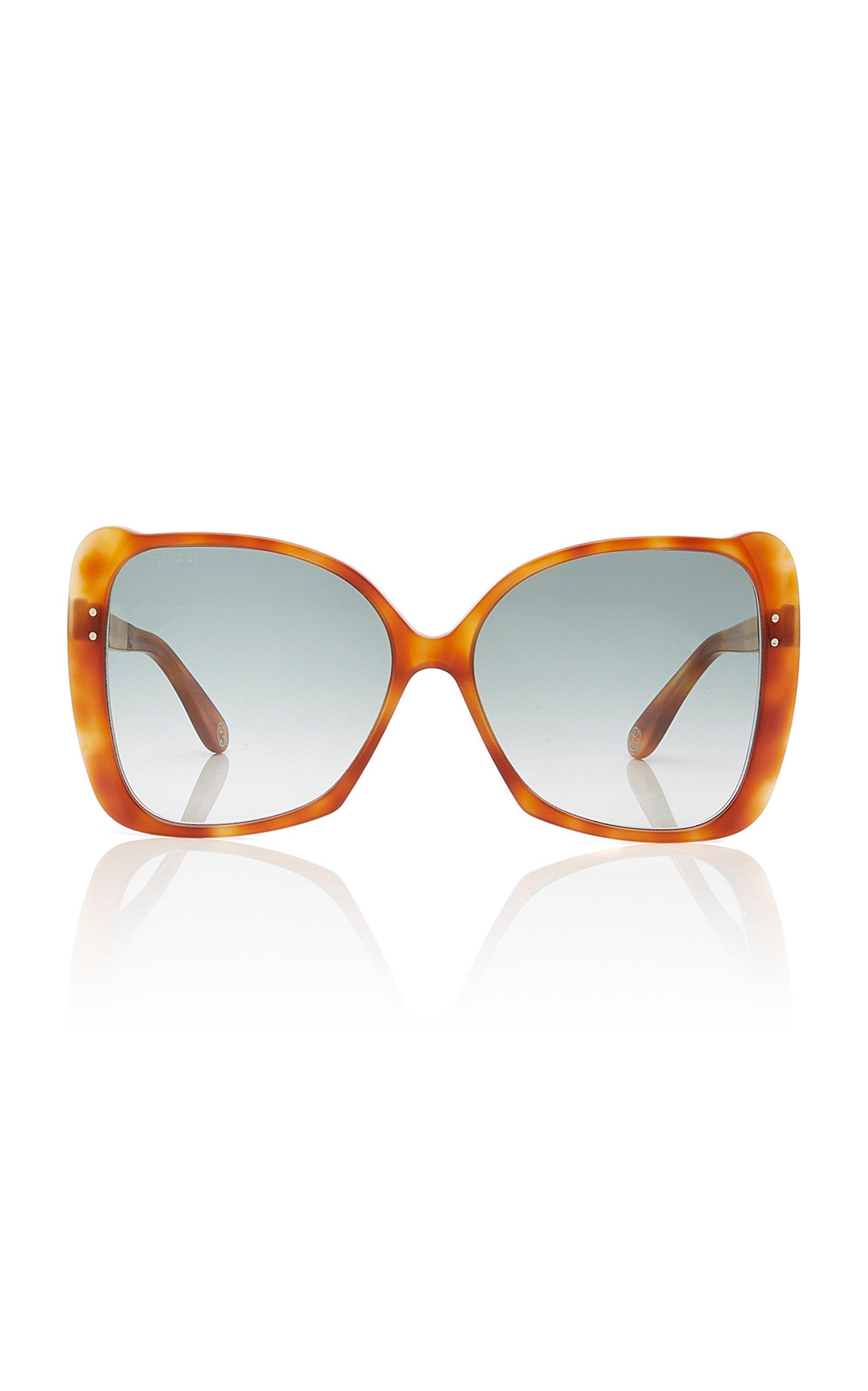 78eda9f34847 Gucci SunglassesButterfly-Frame Tortoiseshell Acetate Sunglasses. CLOSE.  Loading