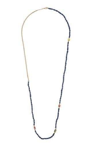 OBJET-A   Objet-a The Blue Hour Deep Blue Sapphire Necklace   Goxip