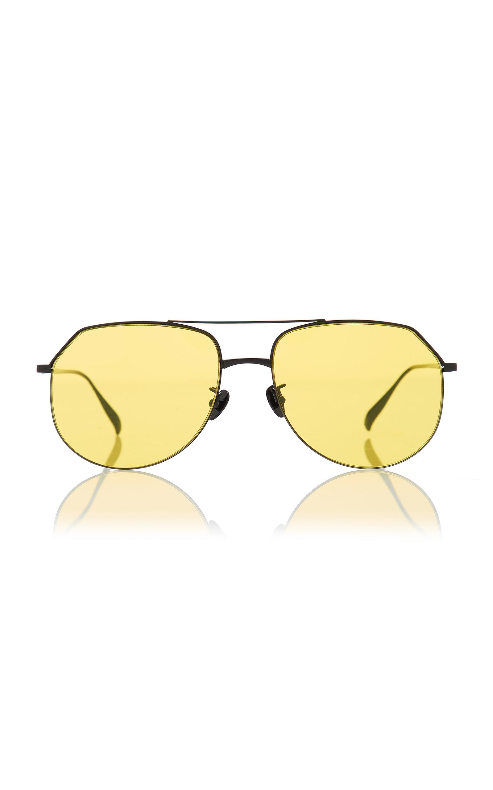 69007f7af7 Projekt Produkt Oversized Aviator Sunglasses In Yellow