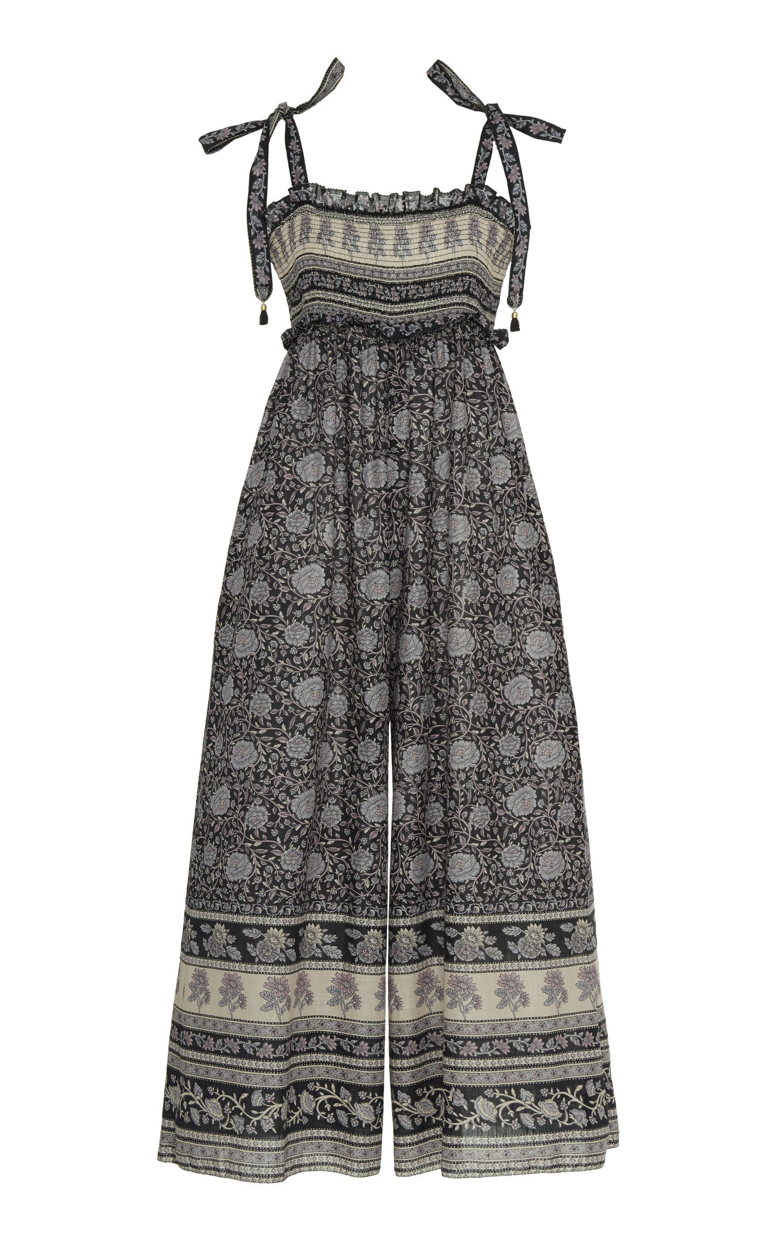 Zimmermann Suits Amari Floral-Print Cotton Jumpsuit