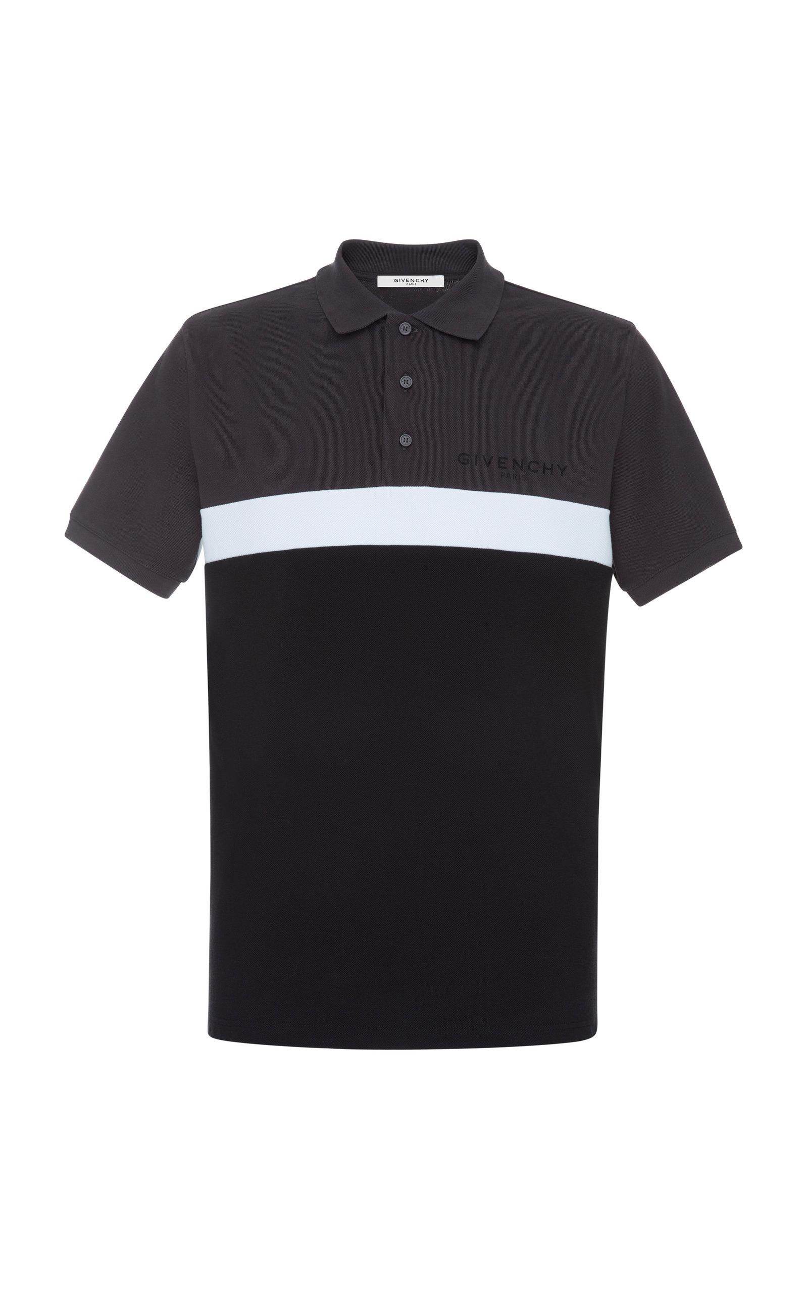 18fc4b7f Striped Printed Cotton-Piqué Polo Shirt by Givenchy   Moda Operandi