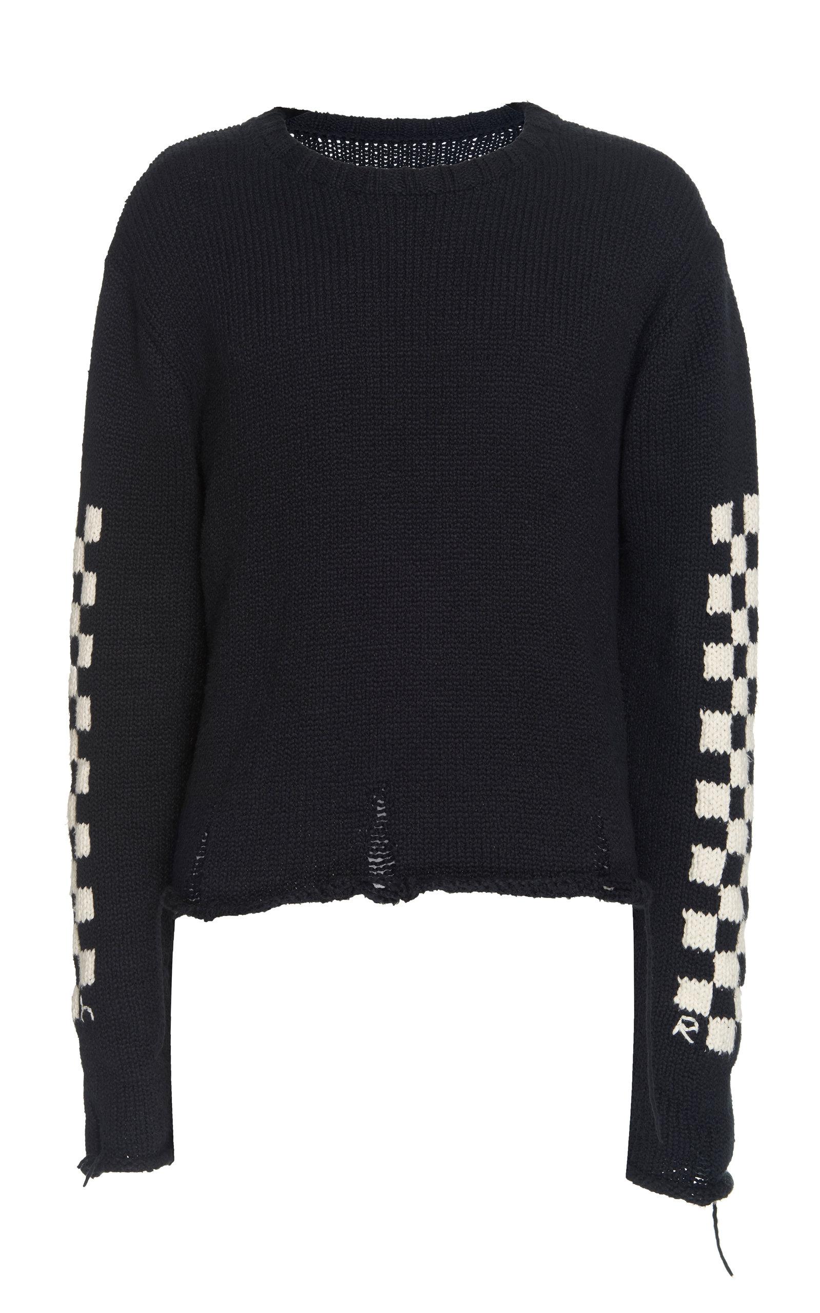 Rhude Knits Intarsia-Knit Cotton Sweater