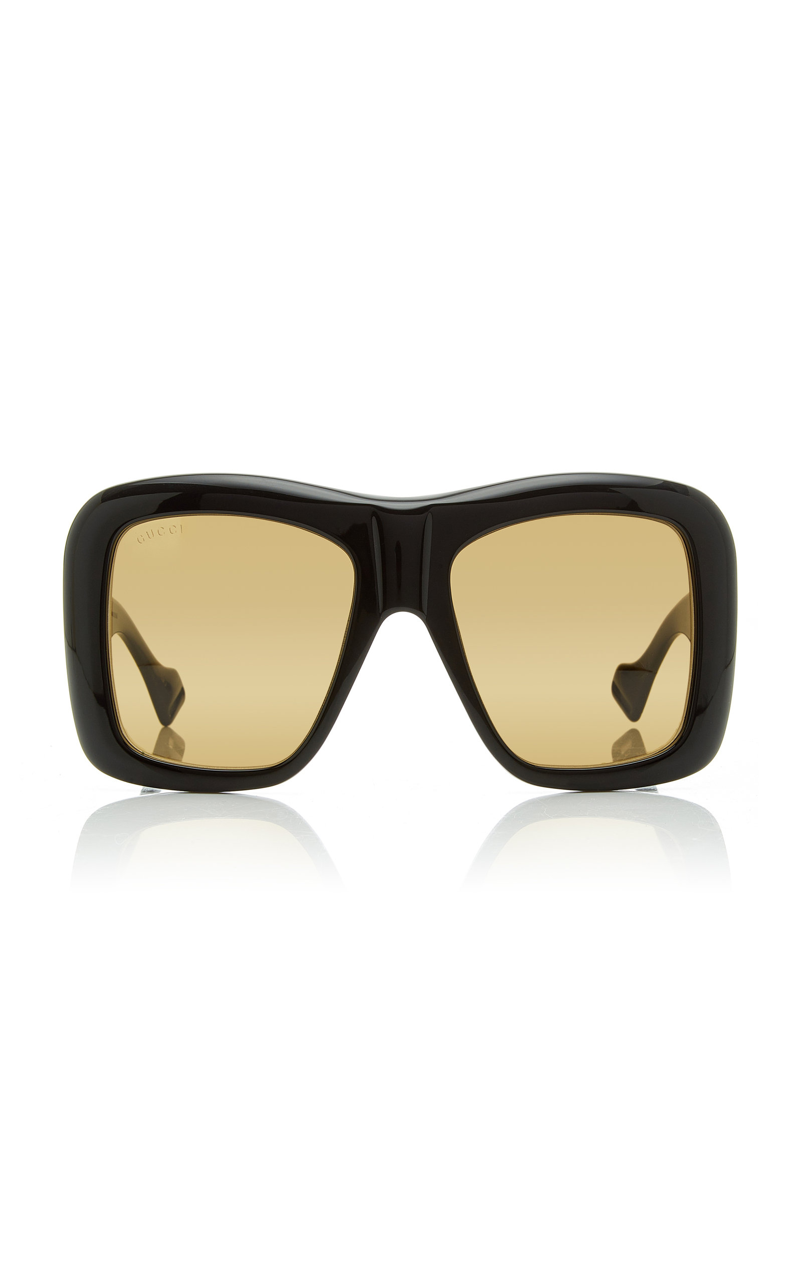 646dd60c677c Gucci Aviator-Style Acetate Sunglasses In Yellow | ModeSens