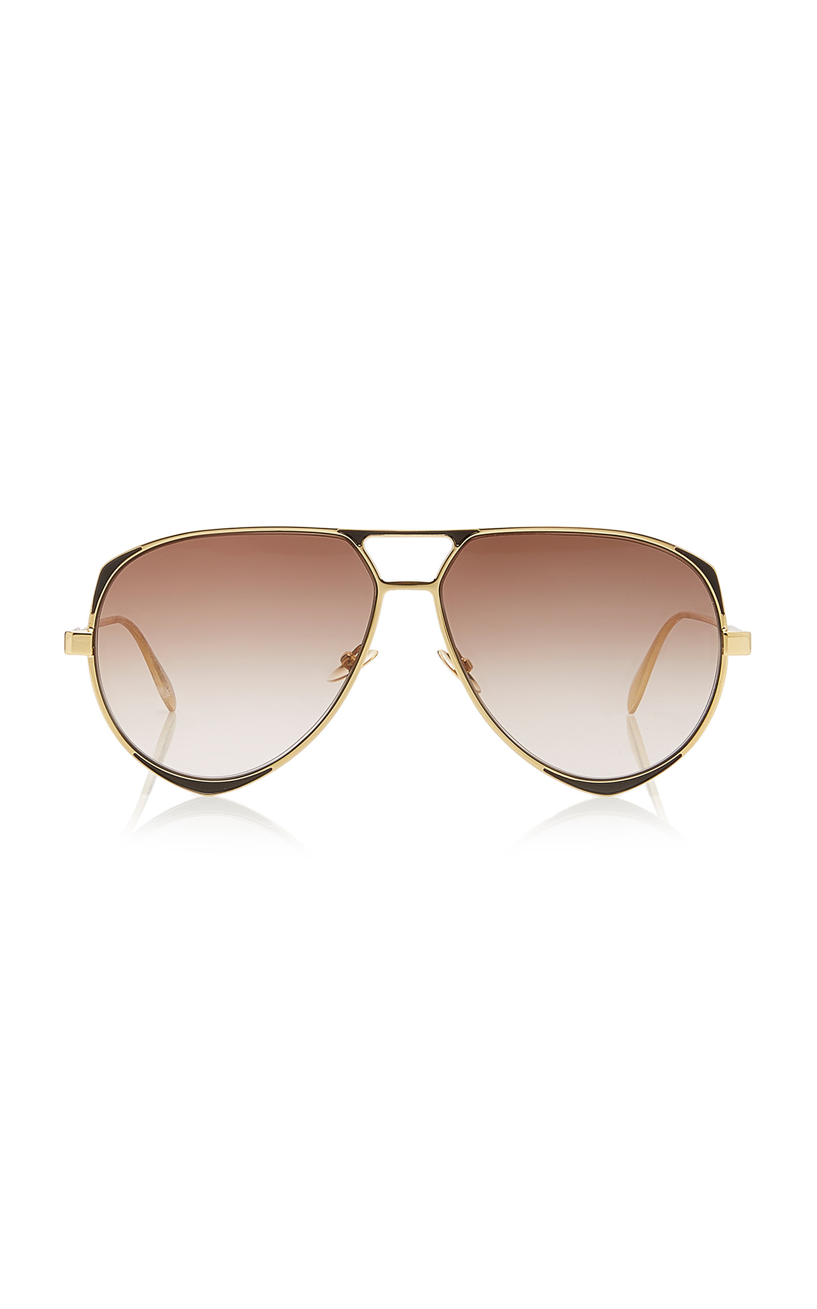 911ade0c8271a Aviator-Style Metal Sunglasses by Alexander McQueen Sunglasses ...