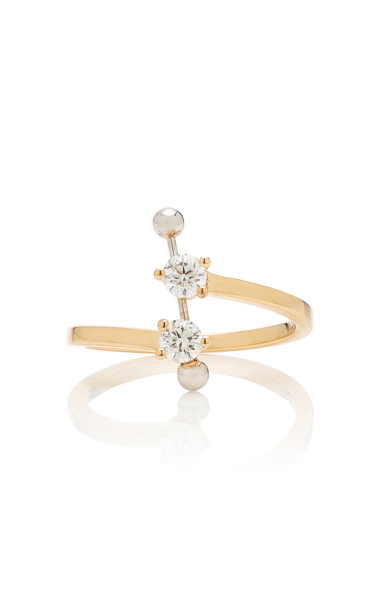 DELFINA DELETTREZ   Delfina Delettrez 18K Gold Diamond Ring   Goxip