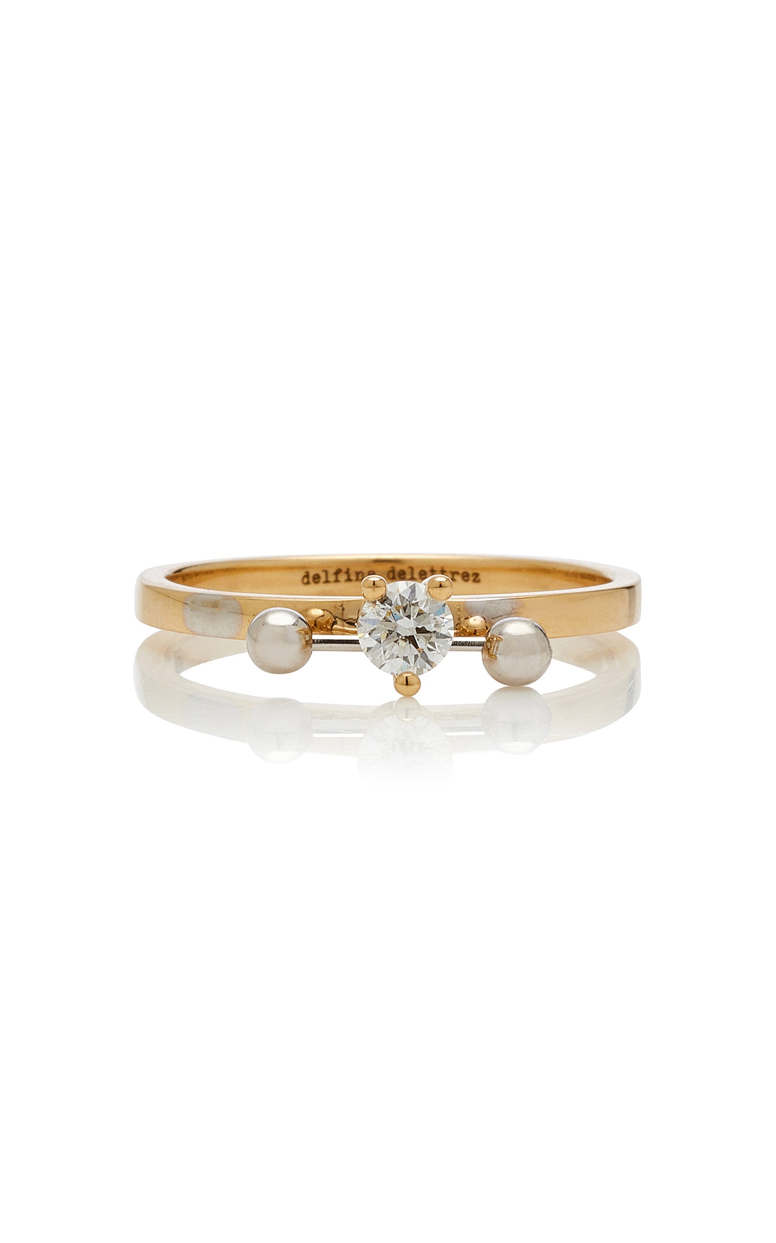 DELFINA DELETTREZ   Delfina Delettrez Two-In-One 18K Gold Diamond Ring   Goxip