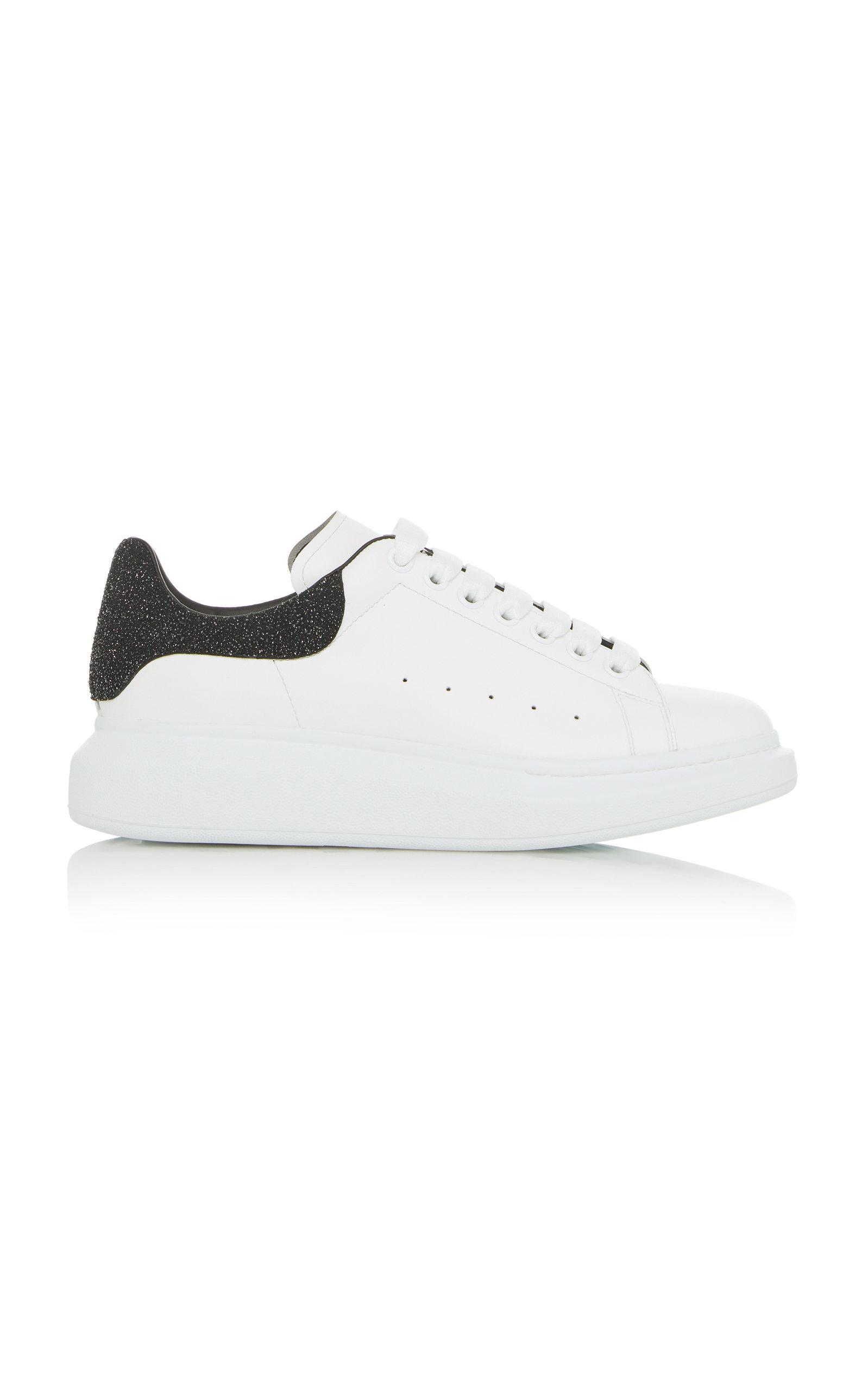 ALEXANDER MCQUEEN | Alexander McQueen Glittered Leather Low-Top Sneakers | Goxip