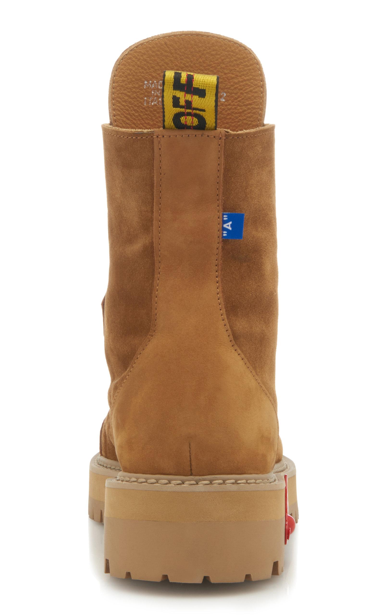 59719250d2b31 Off-White c/o Virgil AblohSuede Hiking Boots. CLOSE. Loading. Loading.  Loading. Loading