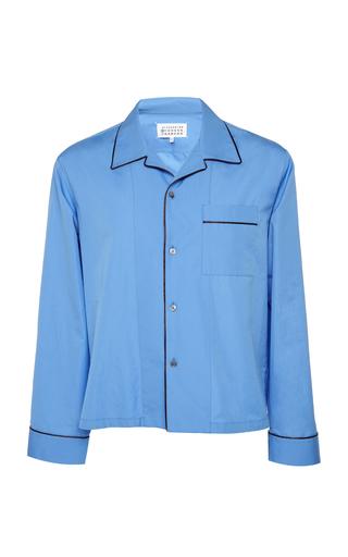 MAISON MARGIELA   Maison Margiela Camp Collar Cotton Pajama Shirt   Goxip