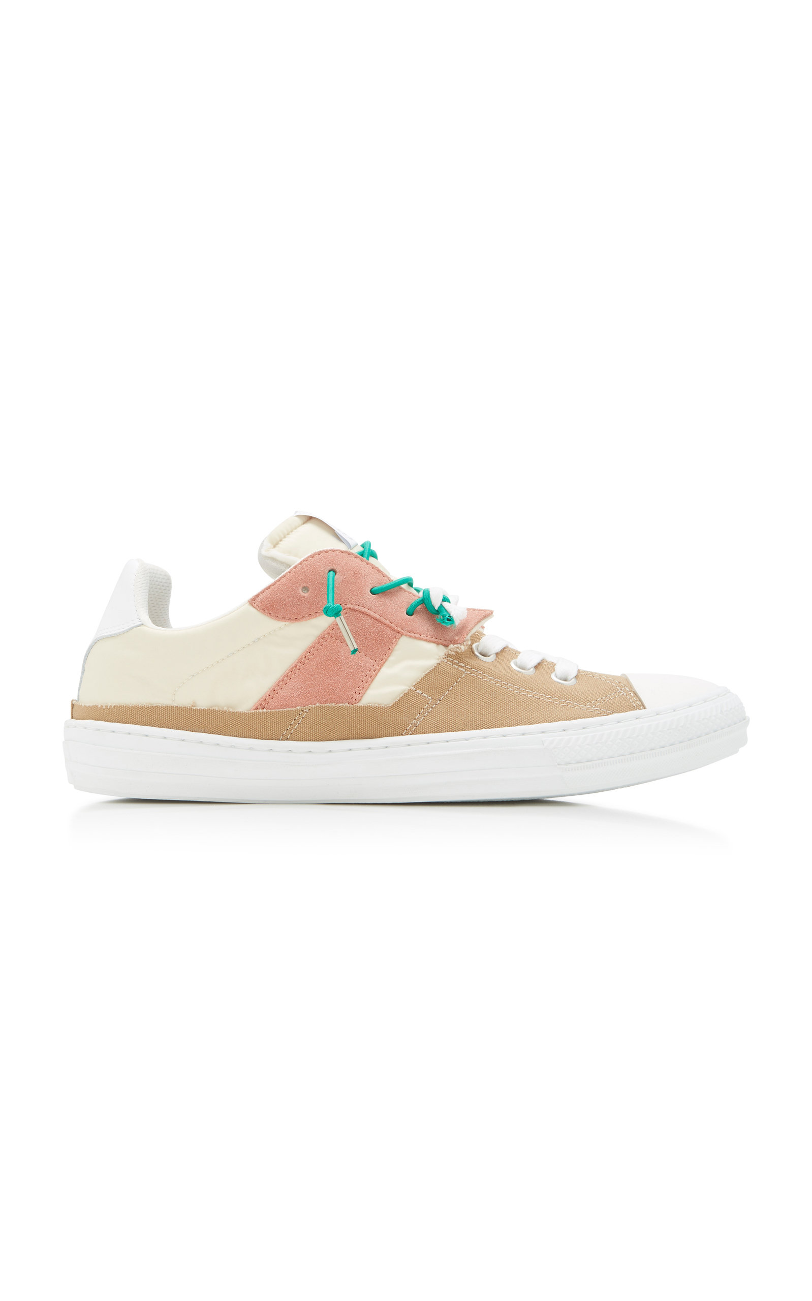 MAISON MARGIELA | Maison Margiela Replica Suede Shell And Canvas Low-Top Sneakers | Goxip