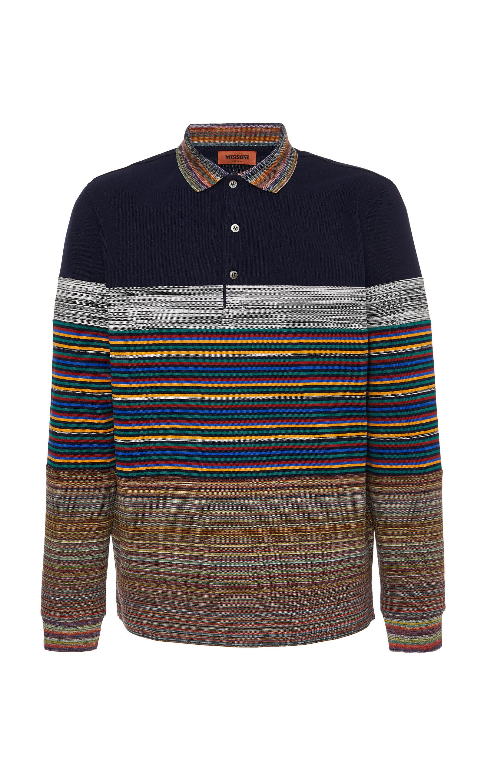 d06180dc Striped Cotton-Piqué Polo Shirt by Missoni | Moda Operandi