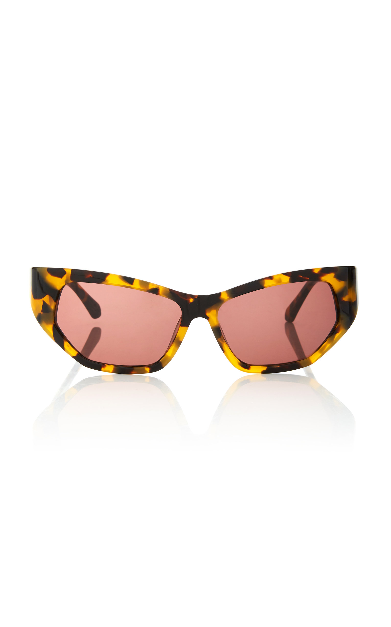 Karen Walker SUPERHERO CAT-EYE TORTOISESHELL ACETATE SUNGLASSES
