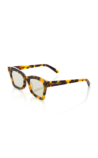 bcd1856a4f62 Karen WalkerBlessed Square-Frame Tortoiseshell Acetate Sunglasses