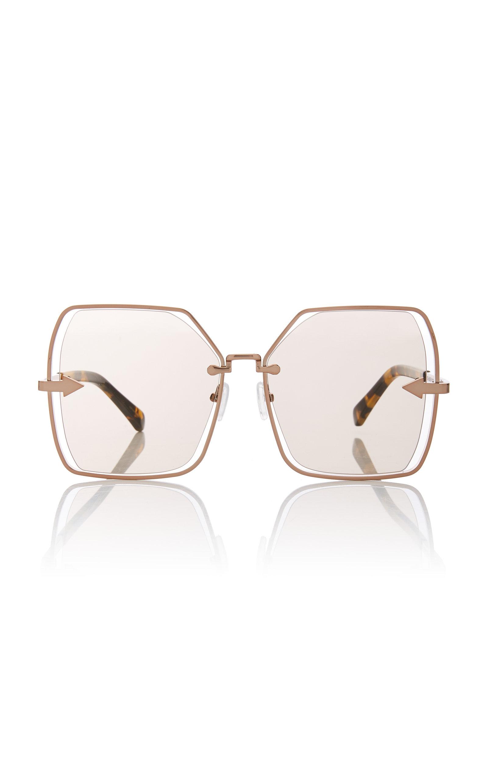 210ff517e0 Nirvana Butterfly-Frame Gold-Tone Sunglasses by Karen Walker | Moda ...