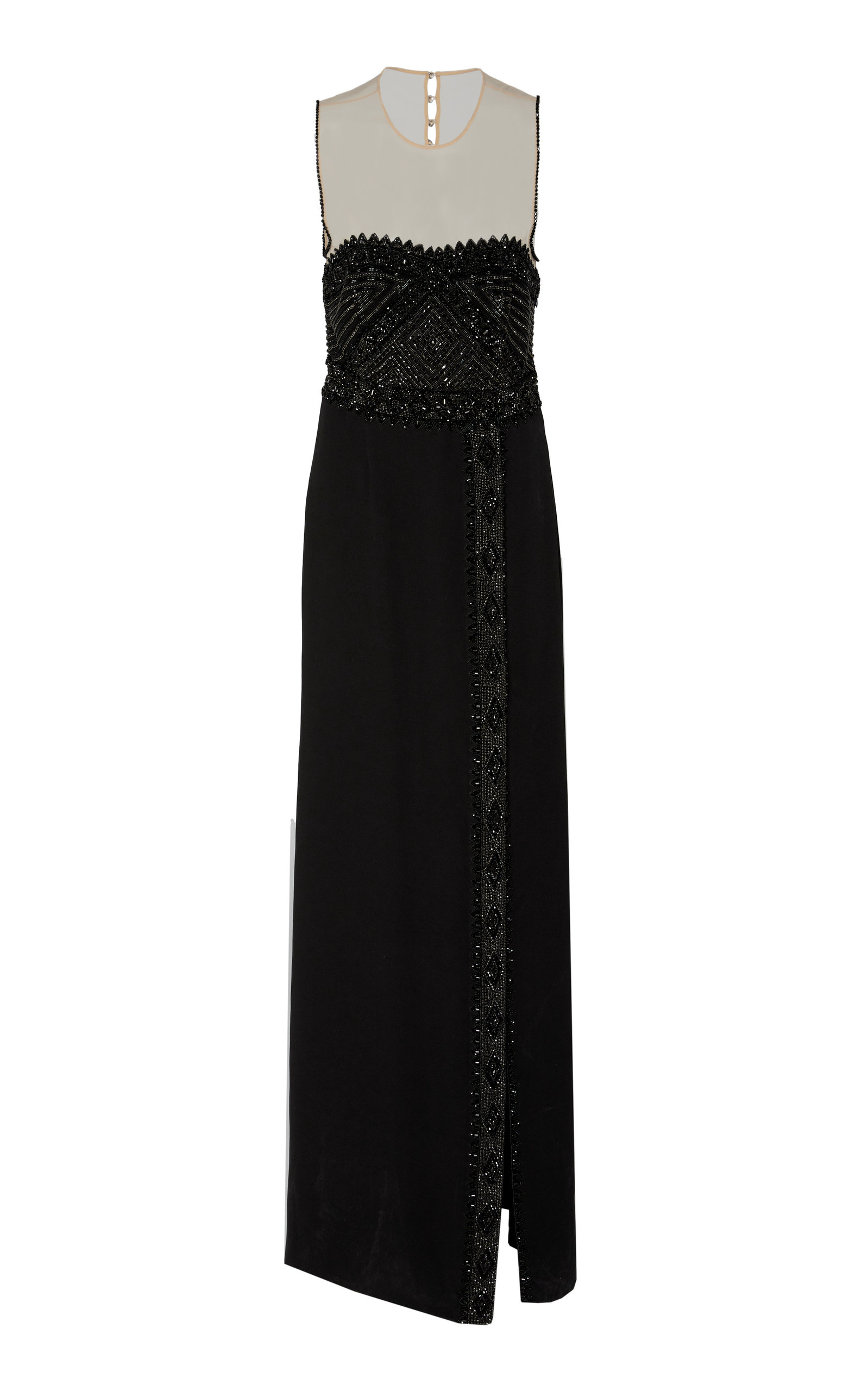 CUCCULELLI SHAHEEN Clea Silk Gown in Black