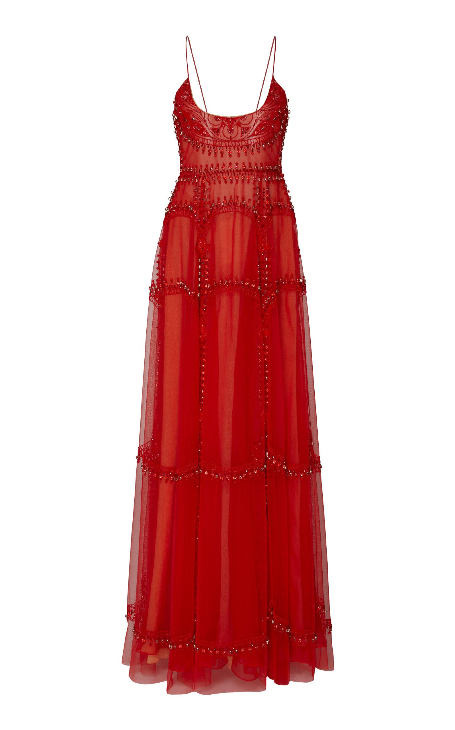 CUCCULELLI SHAHEEN Gateway Gown in Red