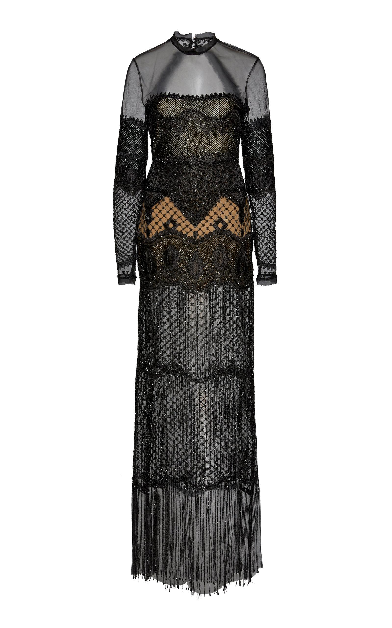 CUCCULELLI SHAHEEN Customizable Midnight Dreamweaver Tulle Gown in Black
