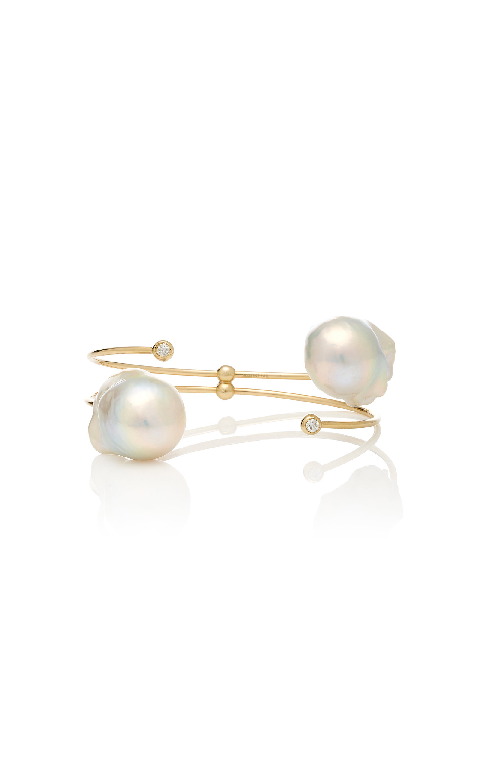 3e99d238963351 Double Freshwater Pearl And Diamond Bracelet by Mizuki   Moda Operandi
