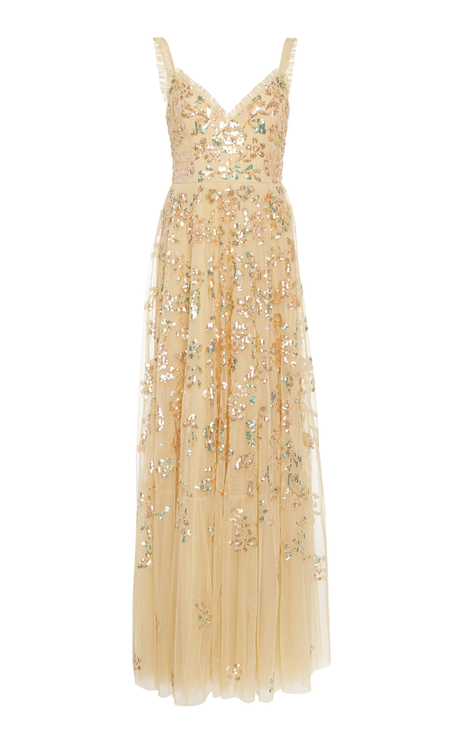Needle & Thread Tops VALENTINA SEQUIN-EMBROIDERED TULLE GOWN SIZE: 12