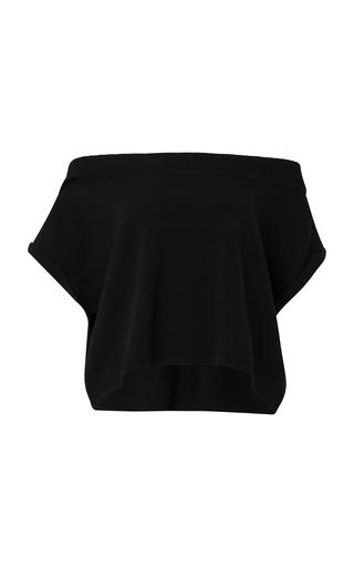 DOROTHEE SCHUMACHER | Dorothee Schumacher Confident Grace Off the Shoulder Cropped Cashmere Top | Goxip