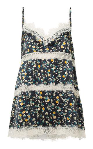 DOROTHEE SCHUMACHER | Dorothee Schumacher Pastel Flowering Printed Lace-Trim Silk Top | Goxip