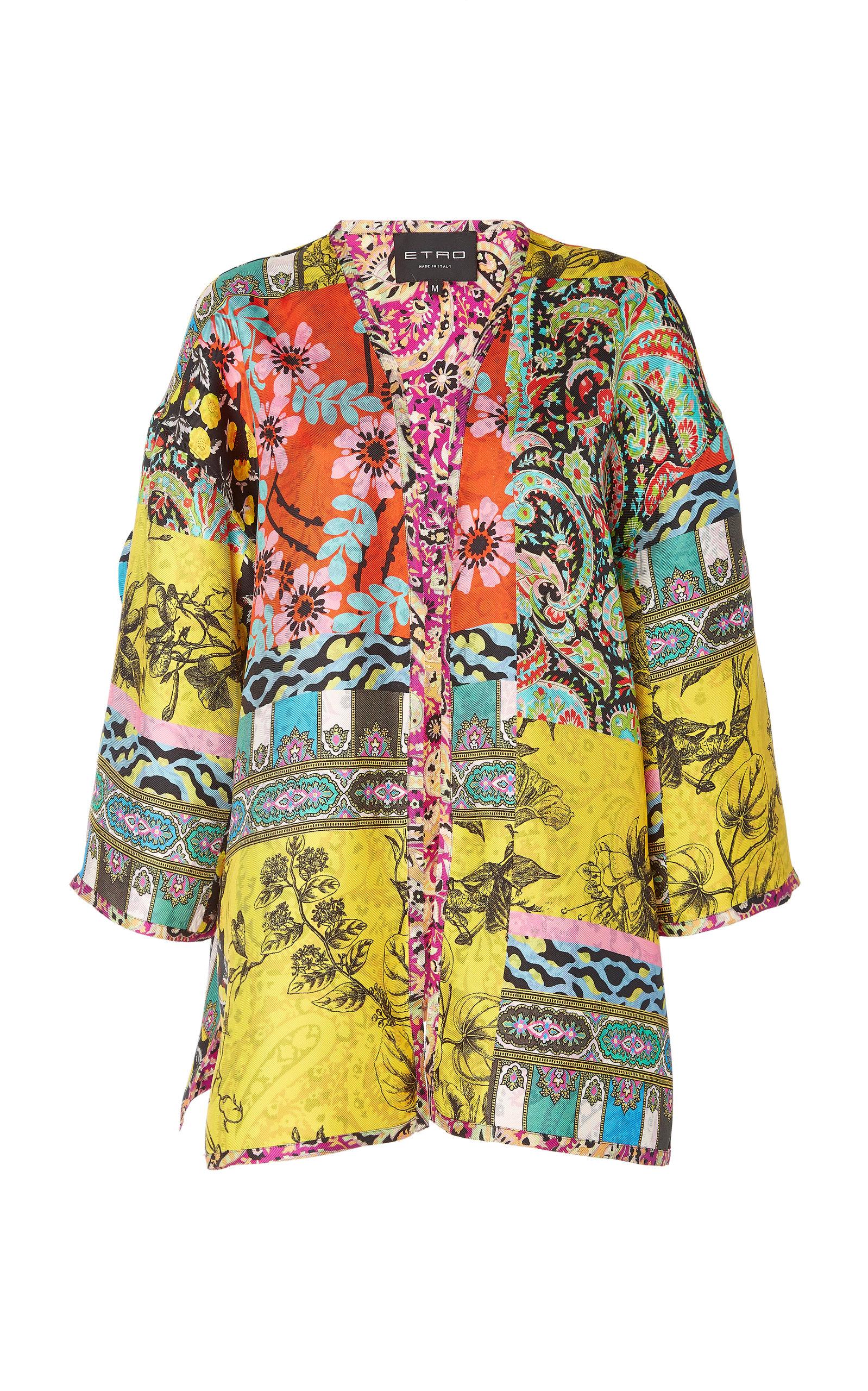 Printed Jacket Etro Moda Norfork Silk by Operandi 8BSdwn