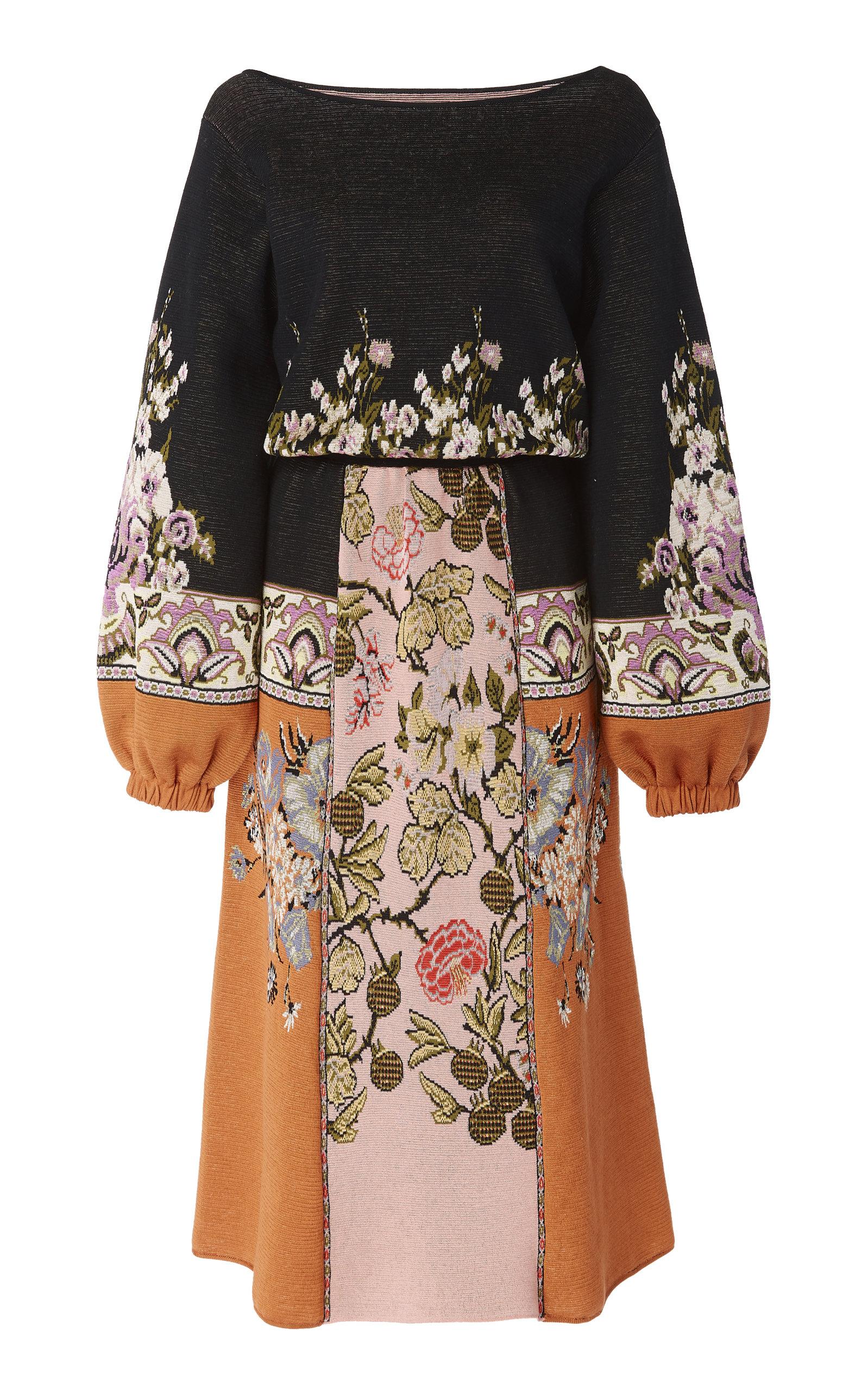 ETRO | Etro Rutland Floral-Print Cotton-Blend Midi Dress | Goxip