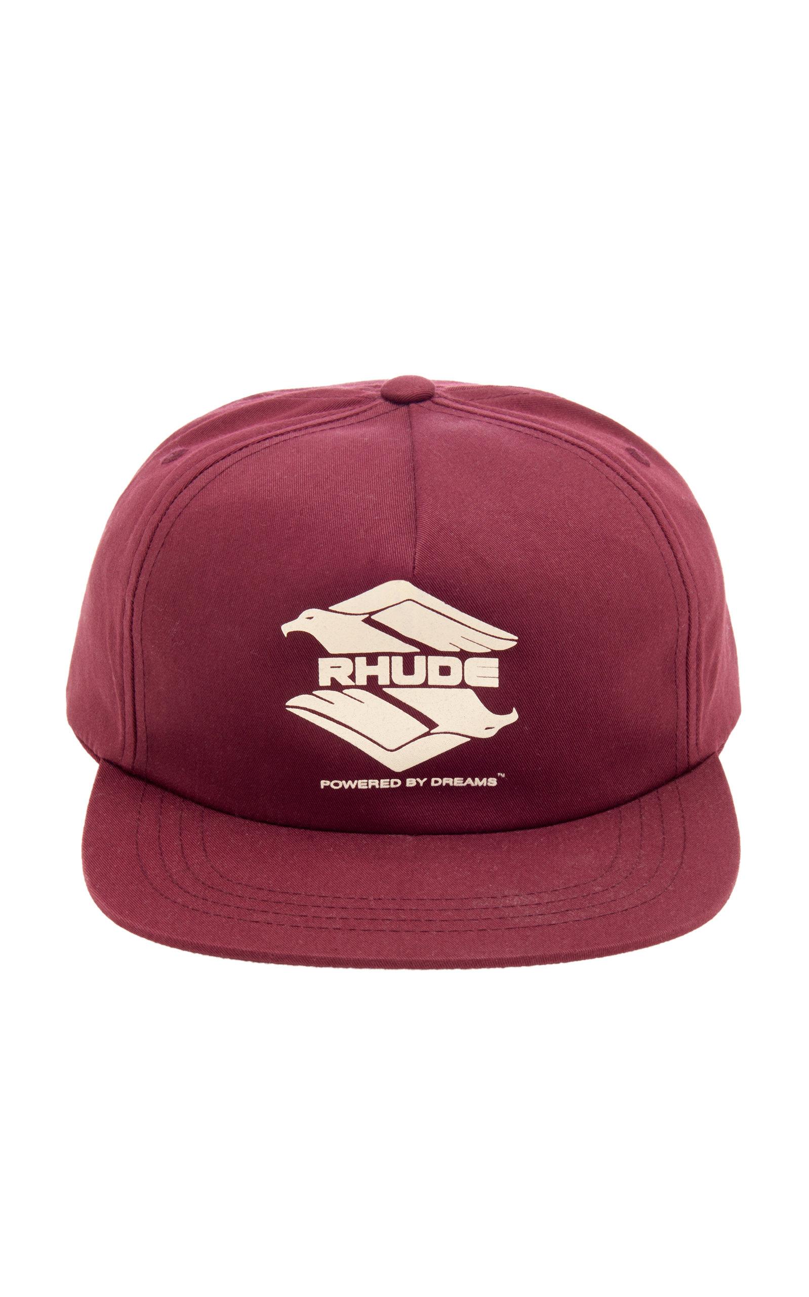 Rhude Hats Logo-Embroidered Cotton-Twill Baseball Cap