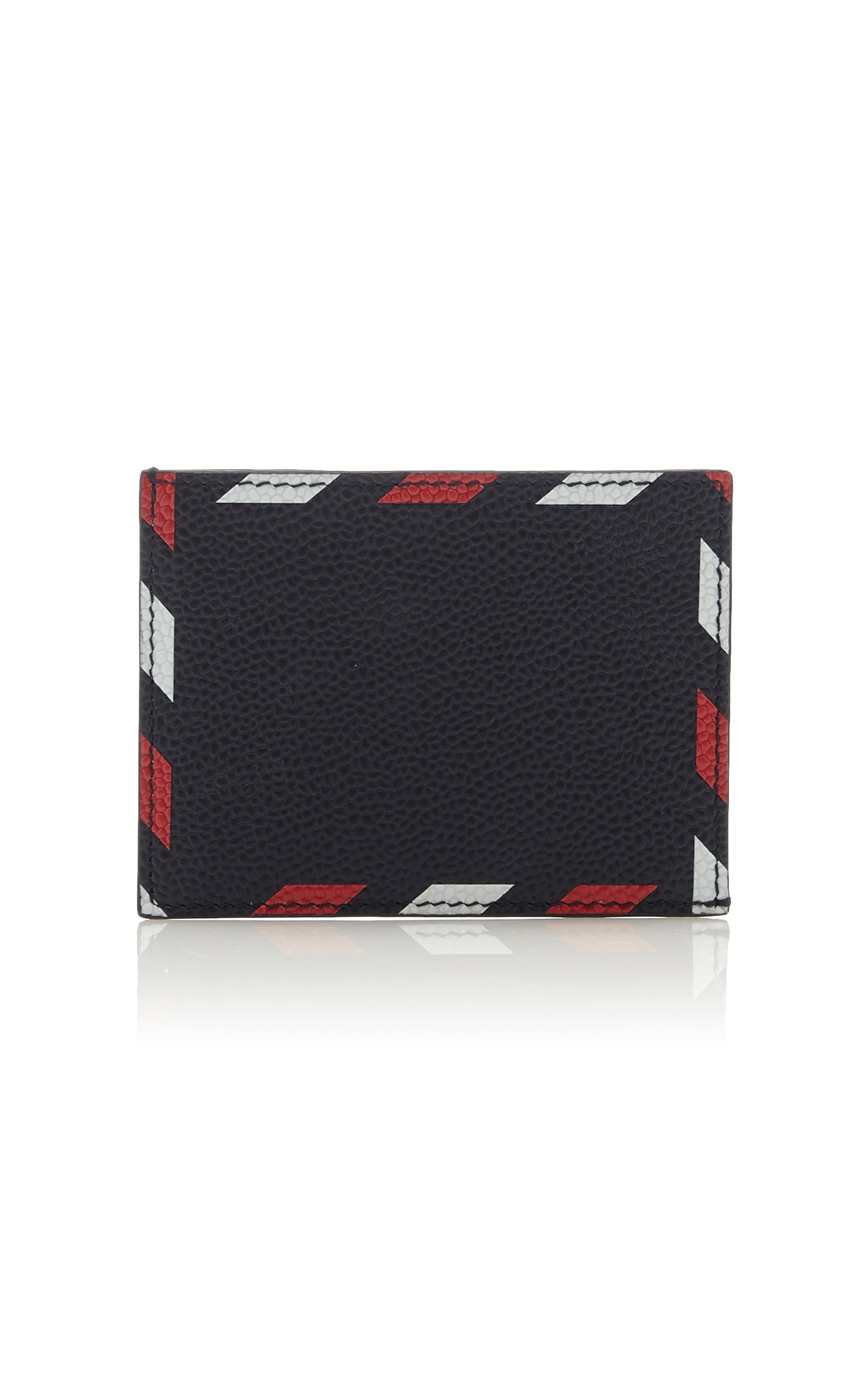 3c591e407e Airmail-Print Pebble-Grain Leather Cardholder by Thom Browne | Moda ...