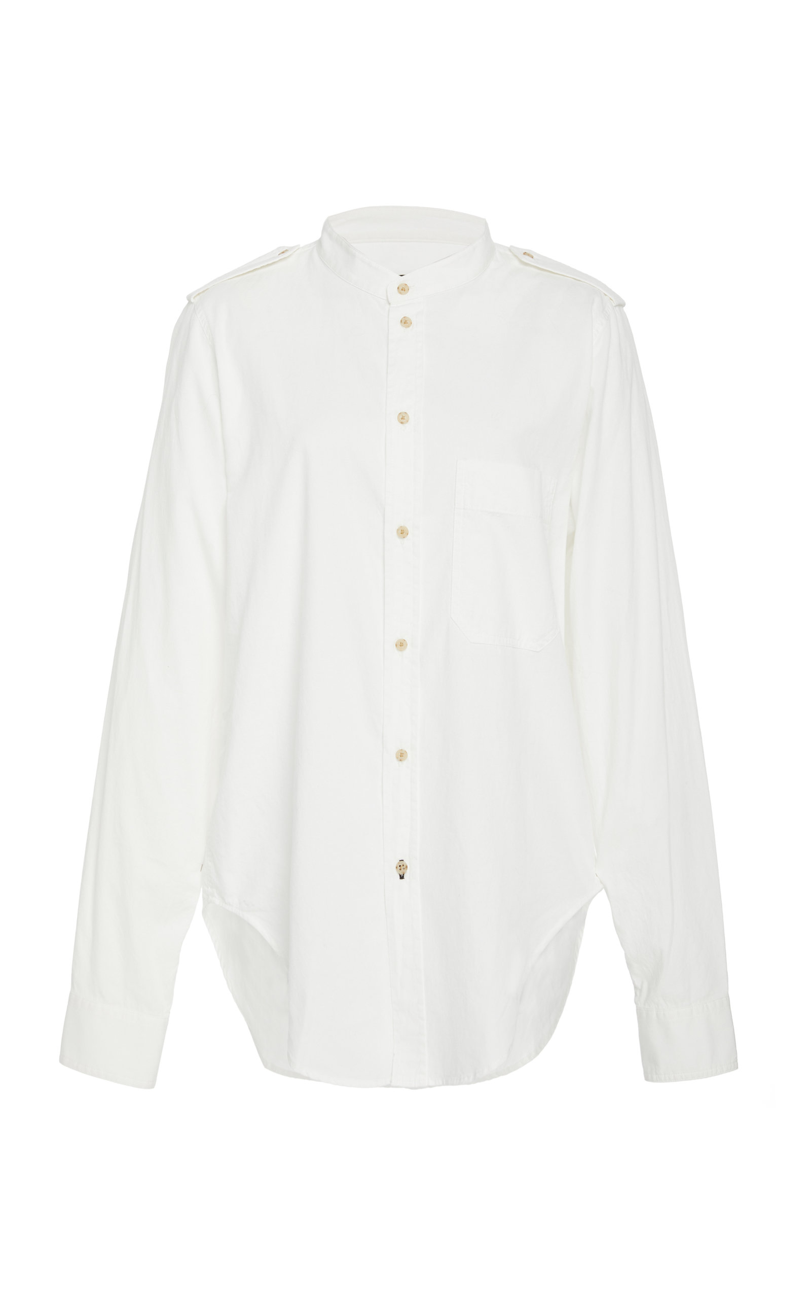 Bassike TAILORED COTTON UTILITY SHIRT