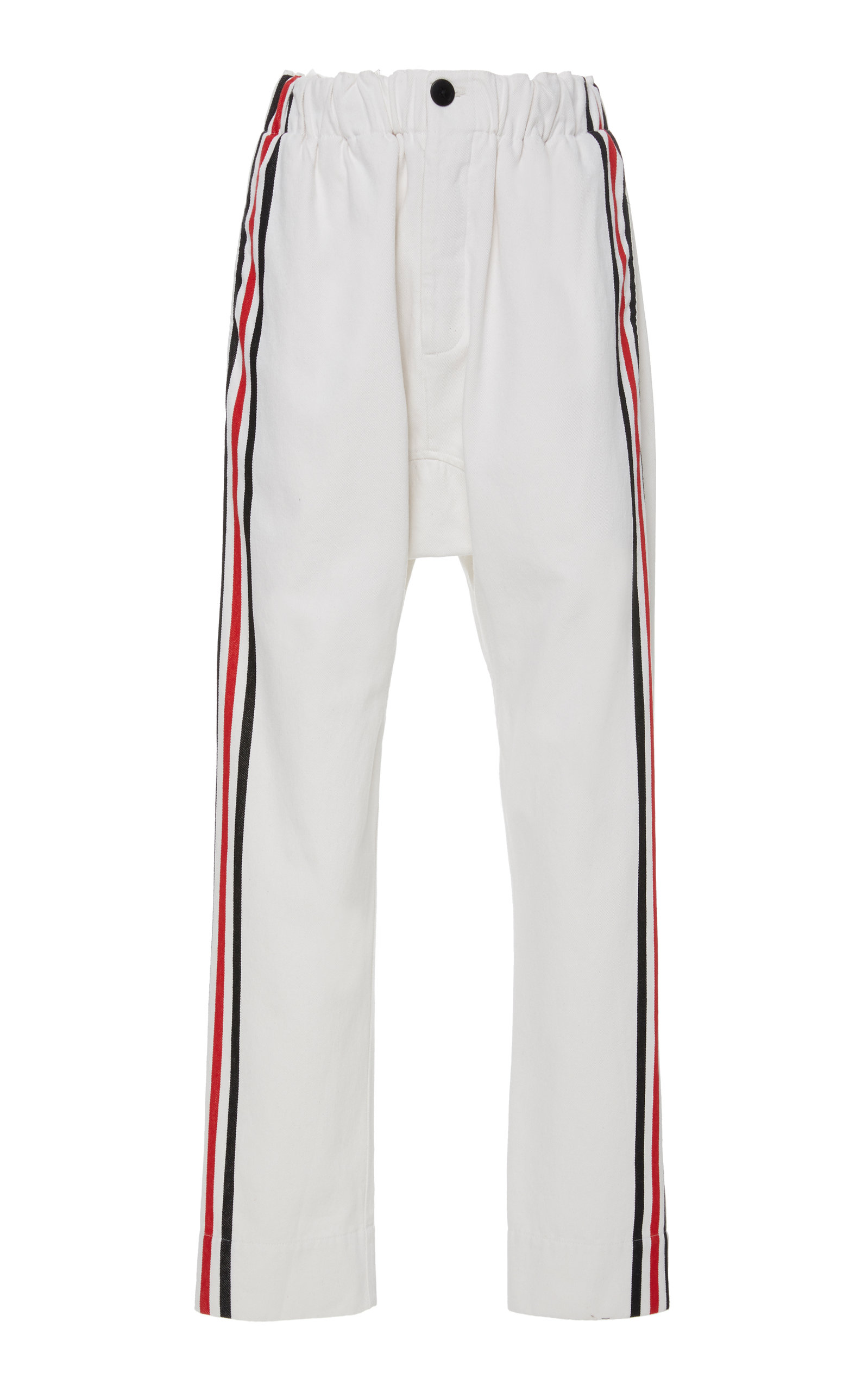 Bassike HIGH-RISE SIDE STRIPE TRACKPANTS