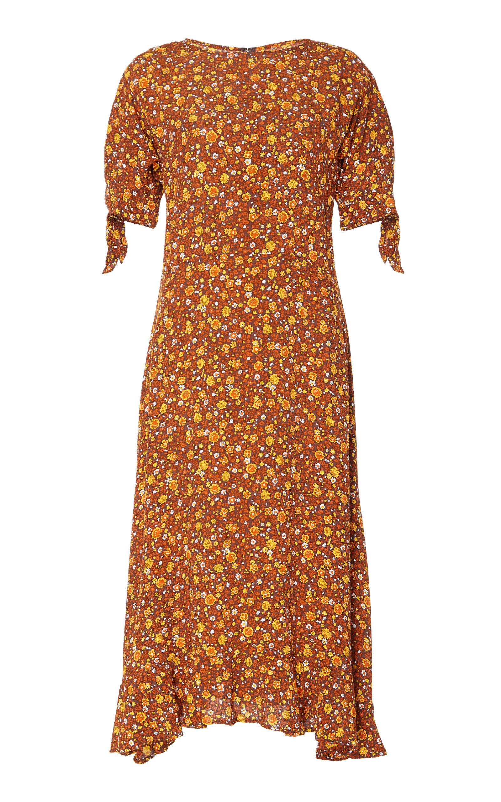 Emilia Floral Print Midi Dress by Faithfull The Brand