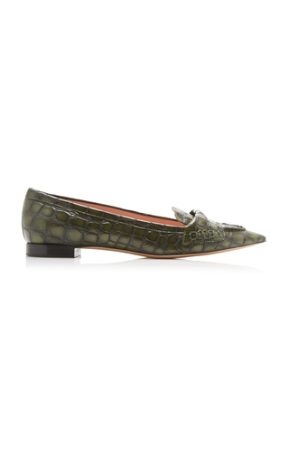 93ff827e1 Del Toro Prince Albert Green Velvet Slipper Loafers With Snake Embroidery  is sold out. Shop Similar Items. Rochas
