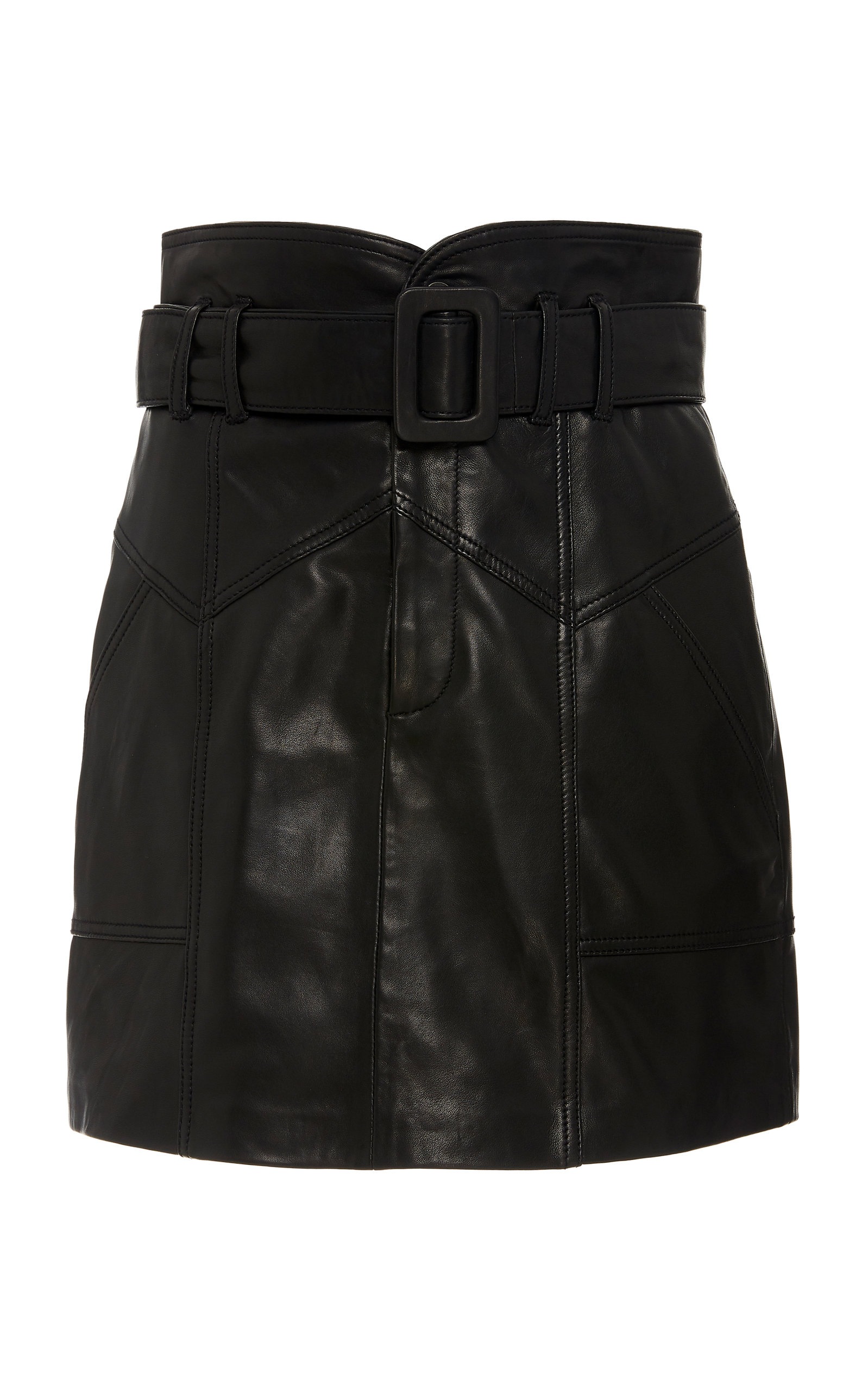 Marissa Webb Claire Belted Leather Mini Skirt