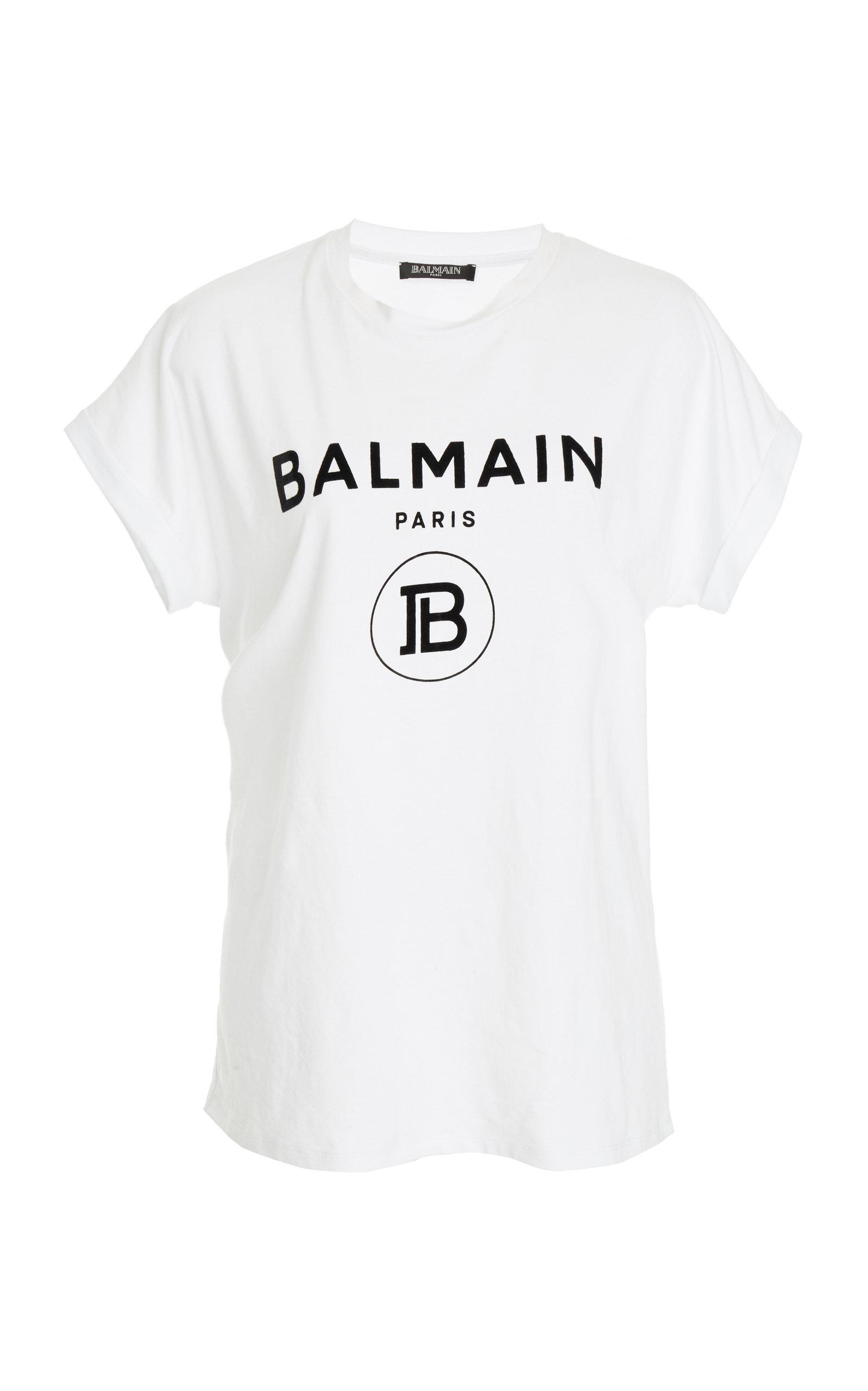 1c2ec87a Branded Logo Cotton T-Shirt by Balmain   Moda Operandi
