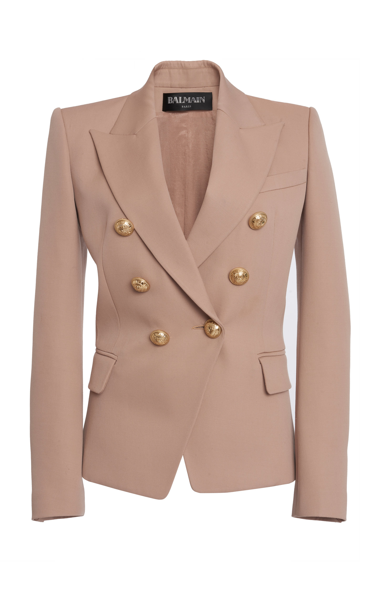 Balmain Blazers Double-Breasted Buttoned Wool Blazer