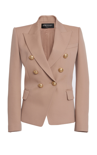 cb0a2d43 PREORDER · BalmainDouble-Breasted Buttoned Wool Blazer