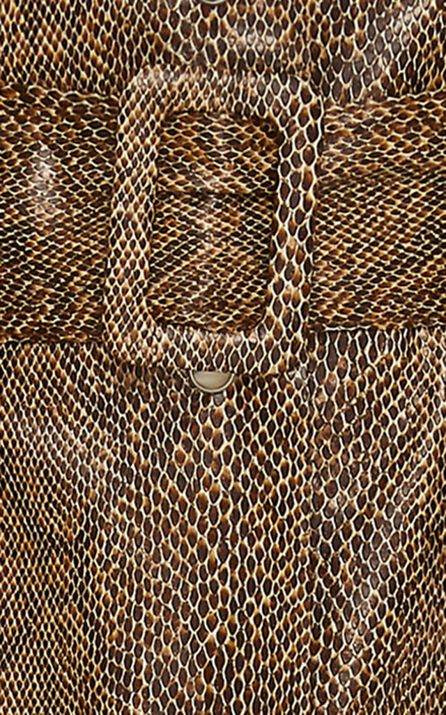 a4a7ee7ac6 NanushkaAarohi Belted A-Line Vinyl Midi Skirt. CLOSE. Loading. Loading.  Loading