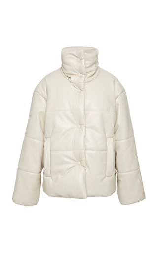 db4be0f1d Malen-D Metallic Quilted Down Coat by Bogner x White Cube   Moda ...