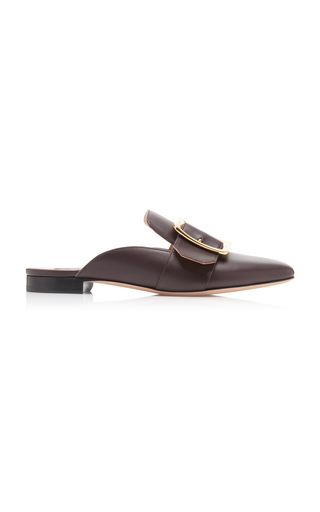 BALLY | Bally Janesse Buckle-Accented Leather Mules | Goxip