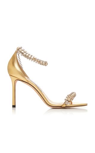 Jimmy Choo Women's Shiloh 100 Crystal Embellished High-Heel Sandals In Gold