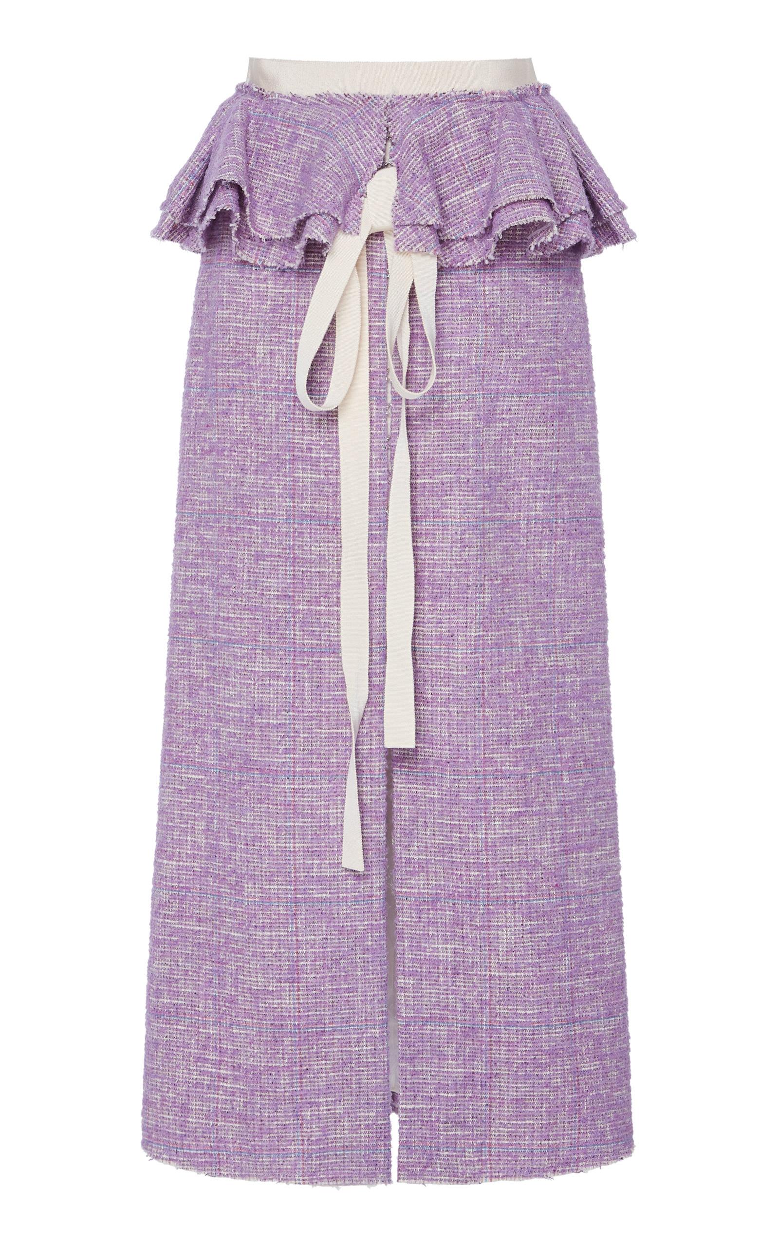 57e2fdc4d0 Perla Ruffle Waist Tweed Skirt by Brock Collection | Moda Operandi