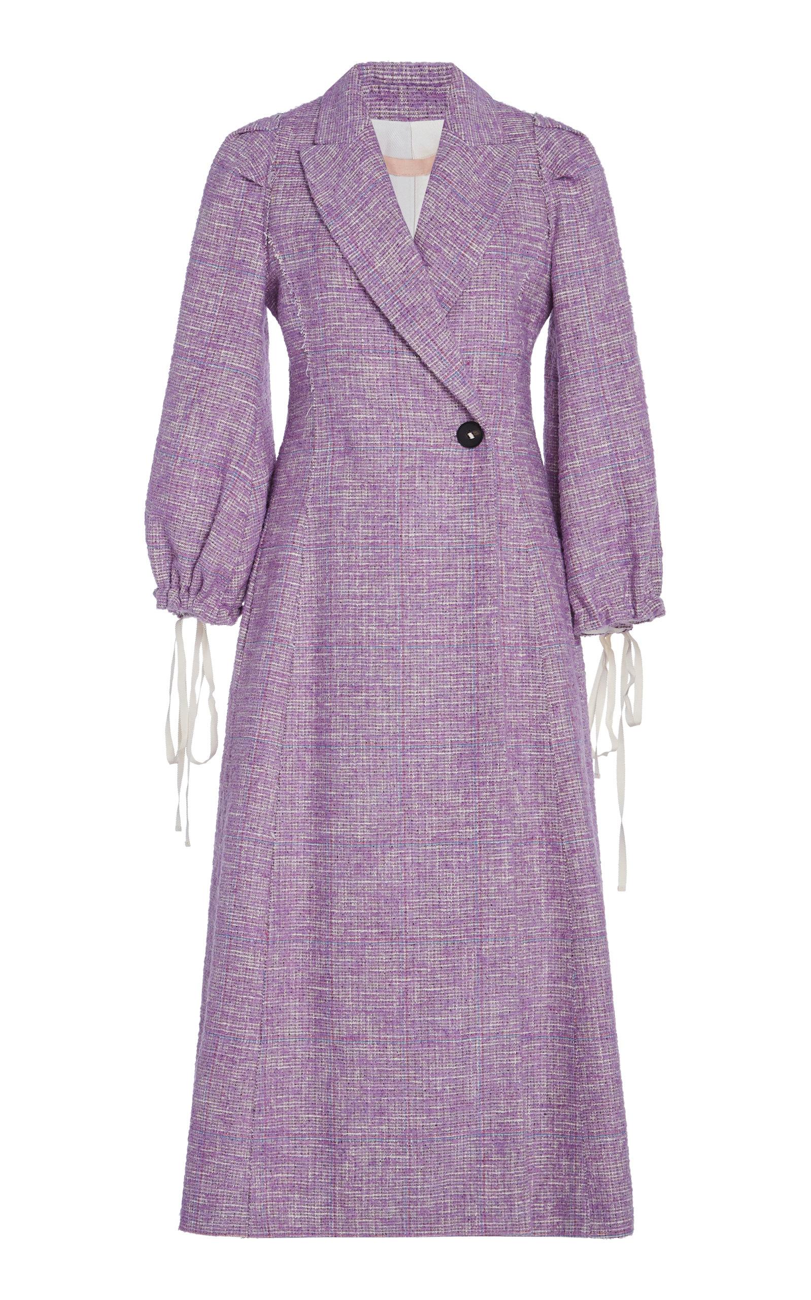 c876f81092a1 Brock Collection Padova Tie-Sleeve Tweed Jacket In Purple