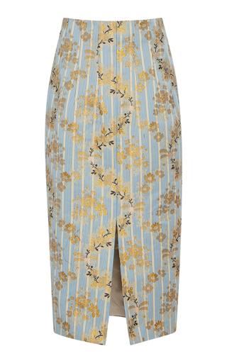068e147cf preorder. Brock Collection. Pectolite Floral Cotton-Blend Midi Skirt