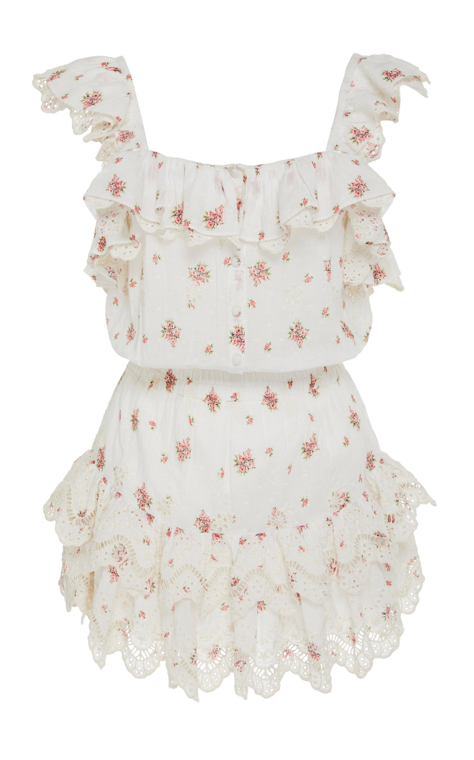 2a7952a6d3 Marina Ruffled Floral-Print Mini Dress by