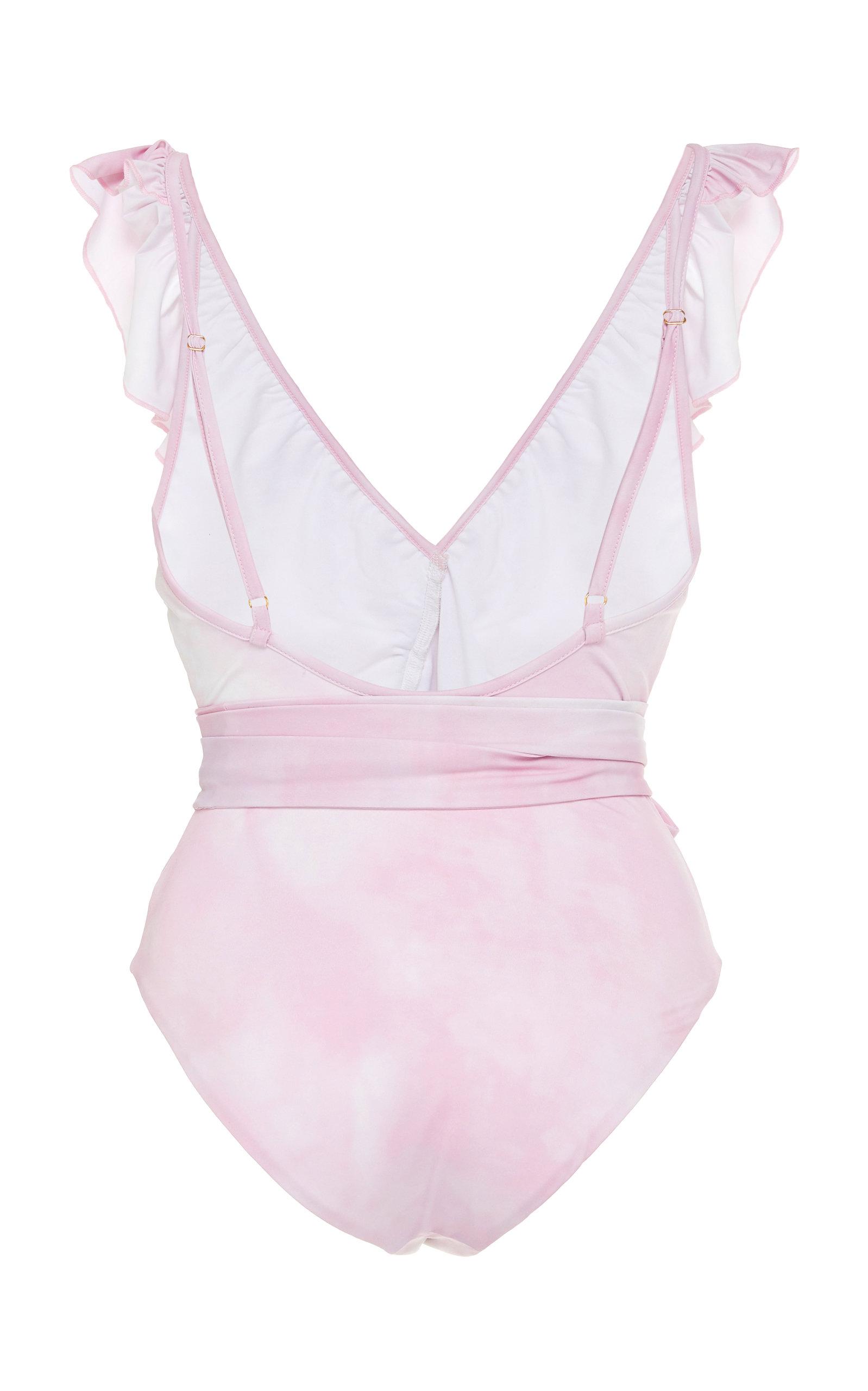 0da974d574f LoveShackFancyJasper Ruffled Belted One-Piece Swimsuit. CLOSE. Loading.  Loading