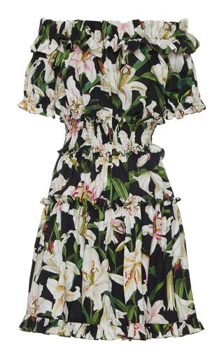 fa210e78bb7 Dolce   GabbanaOff-The-Shoulder Floral-Print Cotton-Poplin Mini Dress
