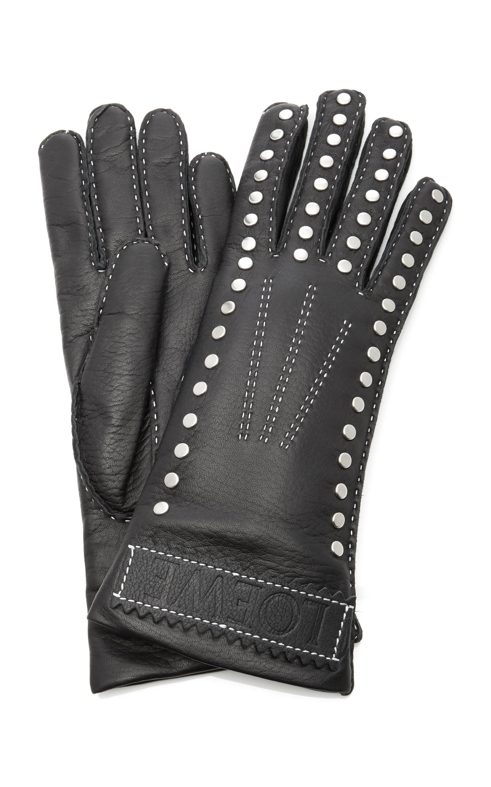 Loewe Gloves Studded Leather Gloves